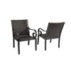 allen + roth Set Of 2 Pardini Oil-Rubbed Bronze Woven Seat Aluminum Patio Dining Chairs