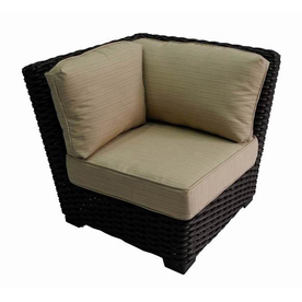Display Product Reviews For Blaney Brown Steel Patio Conversation Chair  With A Beige Sunbrella Cushion