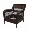 Garden Treasures Glenlee Textured Brown Steel Strap Seat Patio Chair