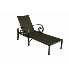 Shop allen roth pardini aluminum chaise lounge chair at for Allen roth steel patio chaise lounge