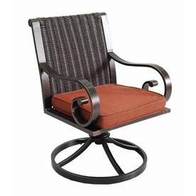 Garden treasures pagosa springs strap aluminum patio for Allen roth tenbrook extruded aluminum patio chaise lounge