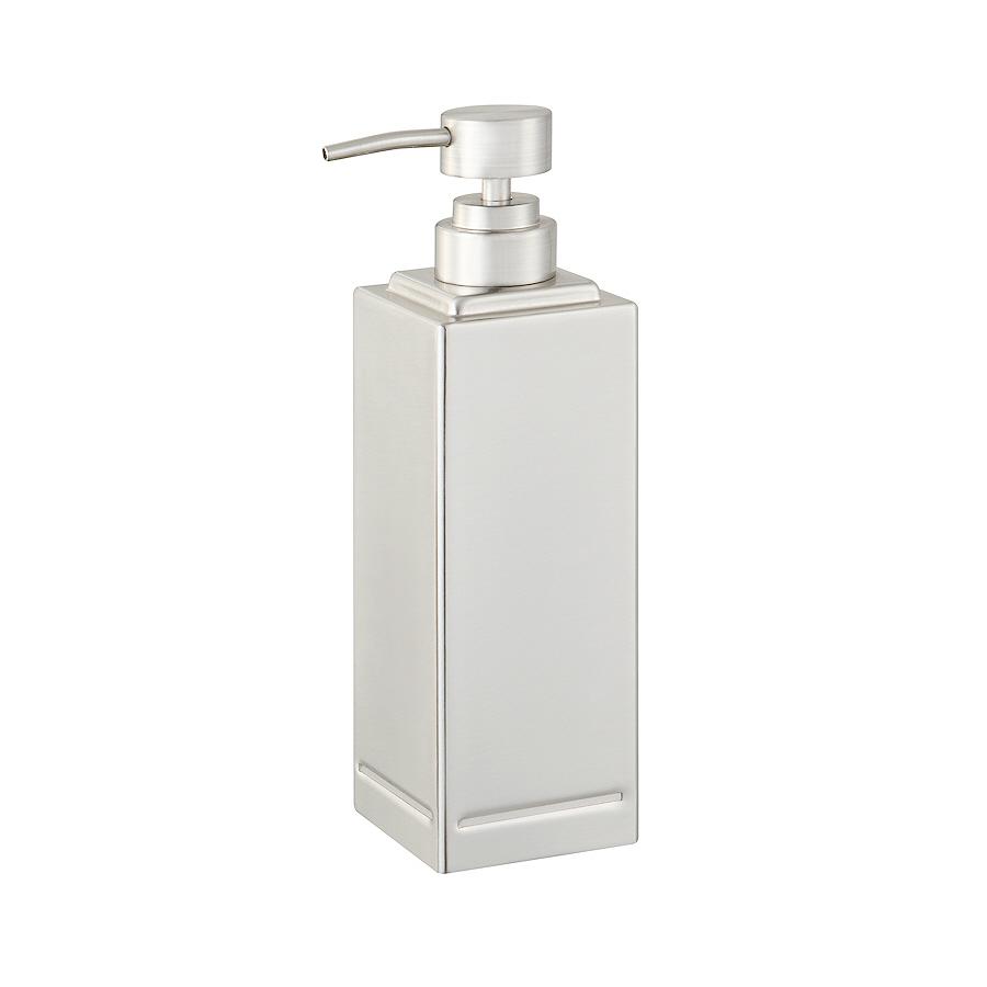 Shop allen roth brushed nickel soap lotion dispenser at - Brushed nickel soap dispenser pump ...