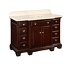 allen + roth Espresso Undermount Single Sink Birch Bathroom Vanity with Natural Marble Top (Common: 45-in x 23-in; Actual: 45-in x 23.25-in)