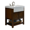 allen + roth Mitchell 26-1/2-in x 21-in Sable Single Sink Bathroom Vanity with Vitreous China Top