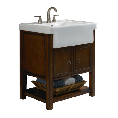 Allen Roth Sable Mitchell Bath Vanity With Farmhouse Sink At Lowes Vanities B