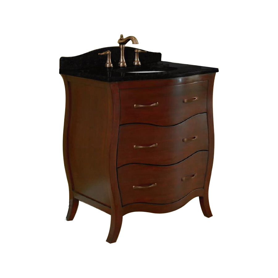 Shop allen roth single sink bathroom vanity with top common 30 in x 21 in actual 30 in x Lowes bathroom vanity and sink
