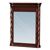 allen + roth 30-in H x 24-in W Avon Park Walnut Rectangular Bathroom Mirror