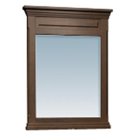 allen + roth Allen + Roth 38-in H x 30-in W Espresso Rectangular Bathroom Mirror