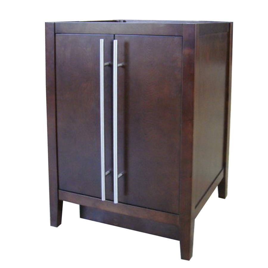 Shop Allen Roth Frankfort Cocoa Contemporary Asian Hardwood Bathroom Vanity Common 24 In X
