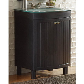 Style Selections 24-in Espresso Cavanaugh Single Sink Bathroom Vanity with Top