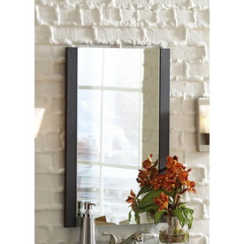 Style Selections 27-1/2-in H x 19-5/8--in W Cavanaugh Espresso Rectangular Bathroom Mirror