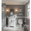 allen + roth Delancy White Undermount Single Sink Birch Bathroom Vanity with Natural Marble Top (Common: 31-in x 21-in; Actual: 31-in x 21.75-in)