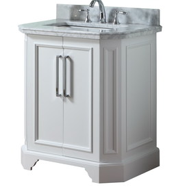 Display Product Reviews For Delancy White Undermount Single Sink Bathroom Vanity With Natural Marble Top