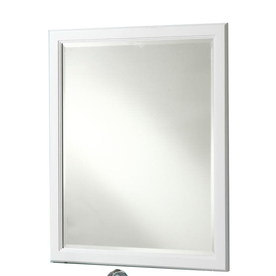 Style Selections Vanover 30-in W x 36-in H White Rectangular Bathroom Mirror