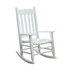 Garden Treasures White Outdoor Rocking Chair