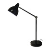 Style Selections 31.3-in Adjustable Black/Painting Desk Lamp with Metal Shade