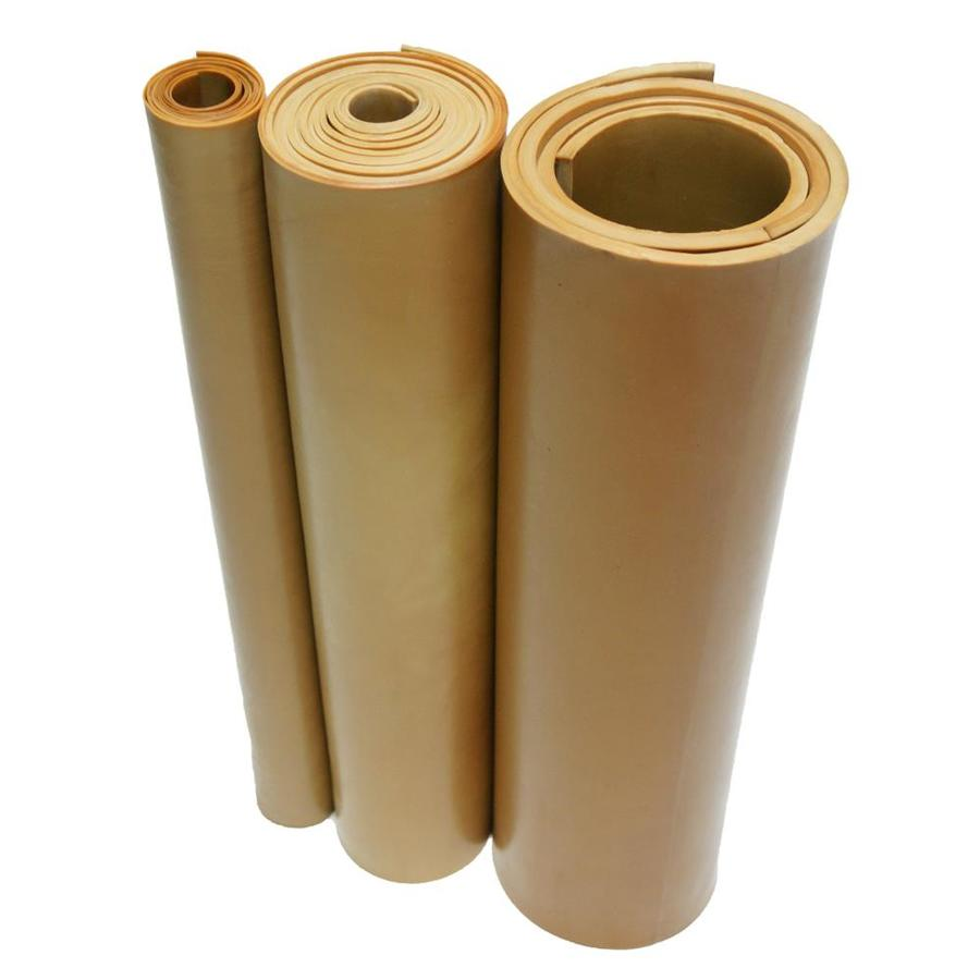 No Backing 40A Durometer 12 Length 12 Width 0.062 Thickness Smooth Finish Tan 33-014-062-012-012 Pure Gum Rubber