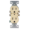 Cooper Wiring Devices 10-Pack 15-Amp 125-Volt Indoor Duplex Wall Outlets