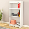 CorLiving Hawthorn Frost White 24-in W x 48-in H x 12-in D 3-Shelf Bookcase