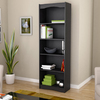 CorLiving Hawthorn Midnight Black 24-in W x 72-in H x 12-in D 5-Shelf Bookcase