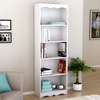 Sonax Hawthorn Frost White 24-in W x 72-in H x 12-in D 5-Shelf Bookcase