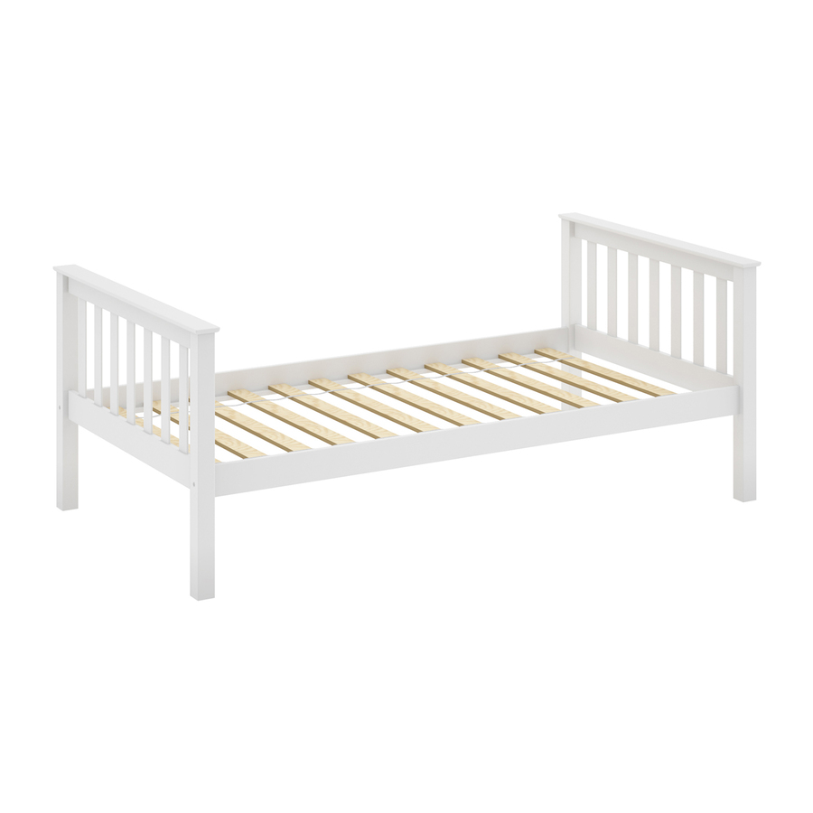 Shop Sonax Corliving White Twin Platform Bed At