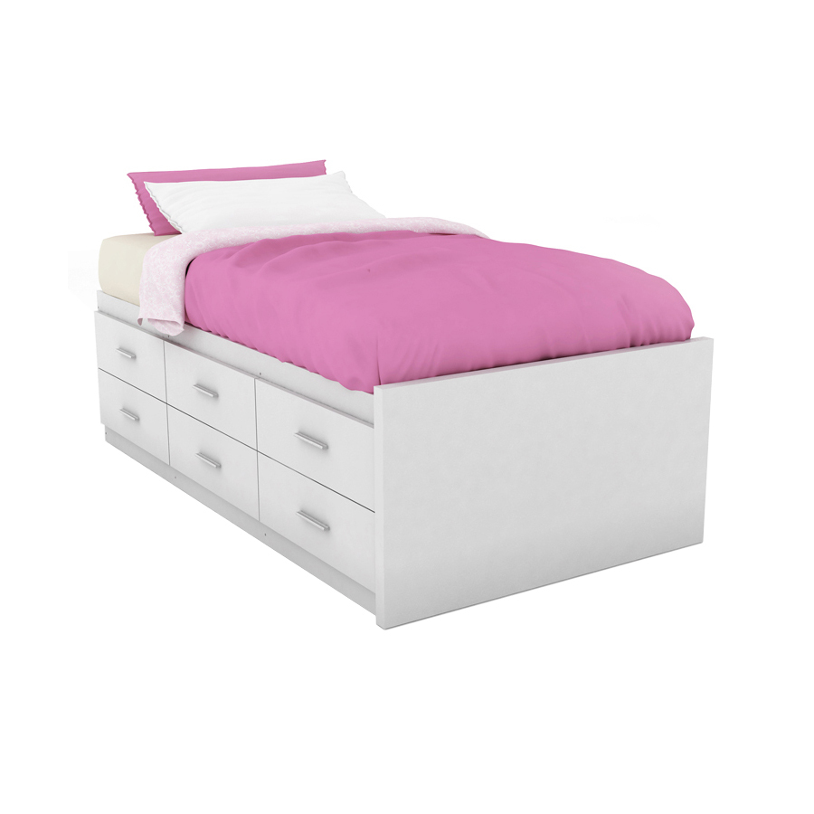 Twin Platform Bed With Drawers Walmart White Twin Platform Bed With