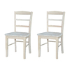 International Concepts Set of 2 Madrid Unfinished Side Chairs
