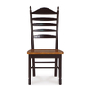 International Concepts Set of 2 Ladderback Black/Cherry Side Chairs
