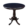 International Concepts Dining Rich Mocha Round Dining Table