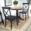 International Concepts Black/Cherry Dining Set with Round Table