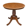International Concepts Dining Cinnamon/Espresso Round Dining Table