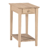 International Concepts Rubberwood Rectangular End Table