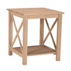 International Concepts Rubberwood Square End Table