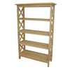 International Concepts Home Accents Natural 30-in W x 48-in H x 12-in D 4-Shelf Bookcase