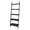 International Concepts Black 14-in W x 75-in H x 25-in D 5-Shelf Bookcase