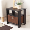 Enitial Lab Dolphi Black Rectangular End Table