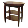 ORE International Cherry Oval End Table