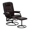 Flash Furniture Brown Leathersoft Polyurethane Recliner
