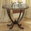 Hillsdale Furniture Monaco Matte Espresso Faux Marble Round End Table