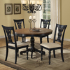 Hillsdale Furniture Embassy Rubbed Black Dining Set