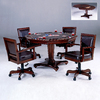 Hillsdale Furniture Ambassador Rich Cherry Round Wood Poker Table