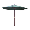 International Concepts Hunter Green Market Patio Umbrella (Common: 9-ft W x 9-ft L; Actual: 9-ft W x 9-ft L)