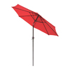 International Concepts Autumn Red Market Umbrella with Crank (Common: 102-in x 102-in; Actual: 104-in x 104-in)