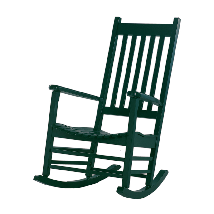 Shop international concepts hunter green wood slat seat for Rocking chair