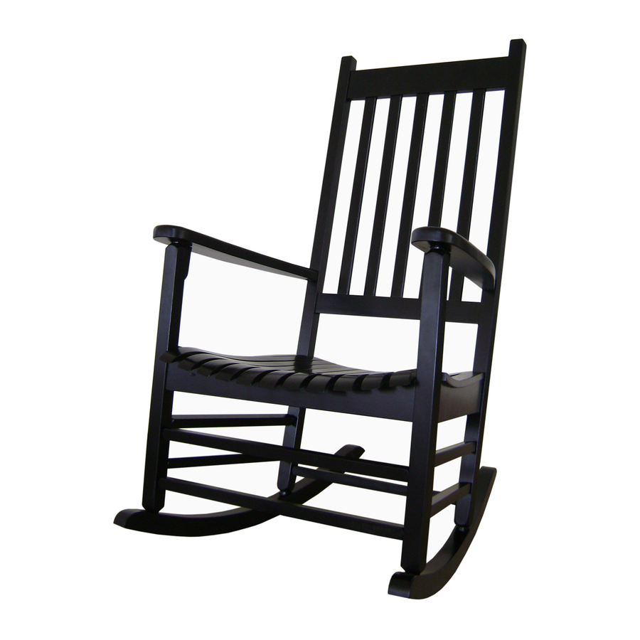 ... Concepts Black Wood Slat Seat Outdoor Rocking Chair at Lowes.com