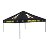 Logo Chairs 9-ft W x 9-ft L Square NCAA Appalachian State Mountaineers Black Standard Canopy