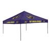 Logo Chairs 9-ft W x 9-ft L Square NCAA East Carolina Pirates Purple Standard Canopy