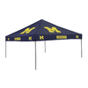 Logo Chairs 9-ft W x 9-ft L Square NCAA Michigan Wolverines Blue Standard Canopy