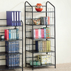 Coaster Fine Furniture Black 24-in W x 64-in H x 13.5-in D 5-Shelf Bookcase